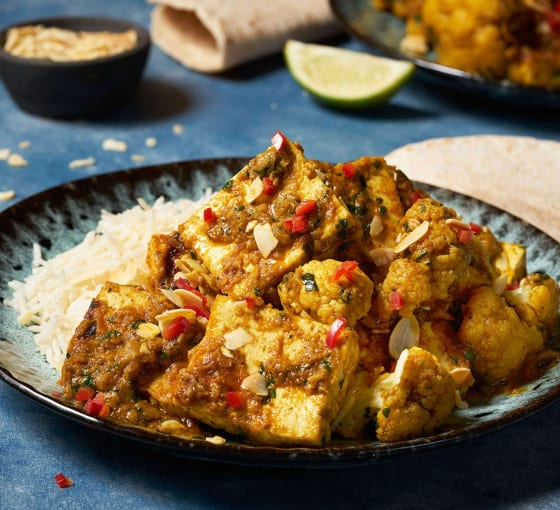 Tofu and Cauliflower Balti