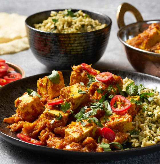 Tofu Rogan Josh with Chilli Rice