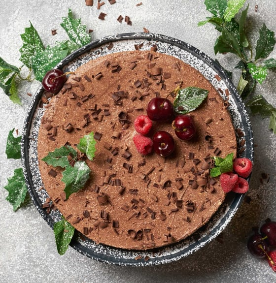 Vegan Christmas Dark Chocolate Torte