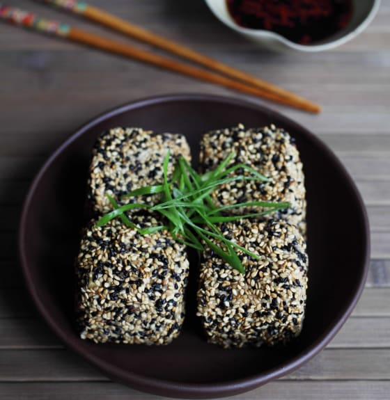 Japanese style sesame tofu