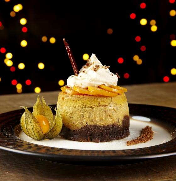 Pumpkin and Stem Ginger Cheesecake