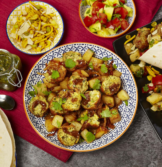 Indian Falafel Bhel Puri