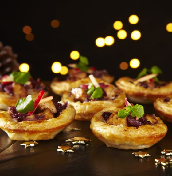 Tofu, Apple & Sweet Onion Tartlets