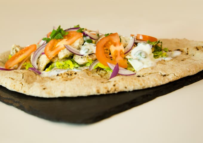 A chicken gyro made by Chris Hale, exclusively for IconInc