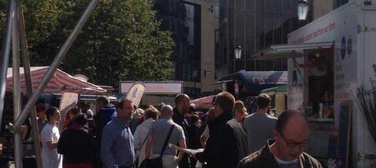 People exploring the British Street Food Awards in Edinburgh