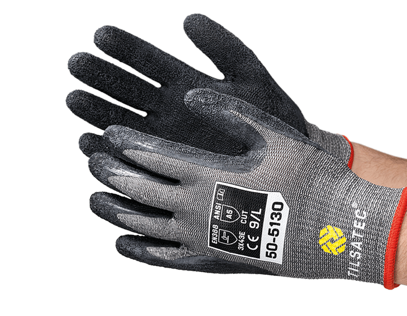 50-5130 medium weight cut level E palm coated glove